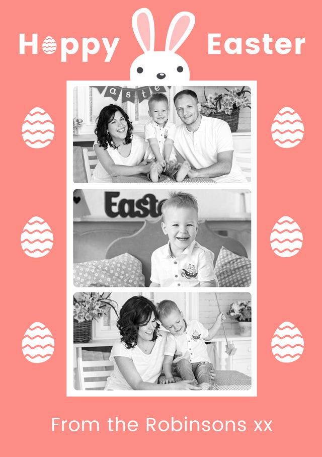 Create a Bunny Collage Photo Card