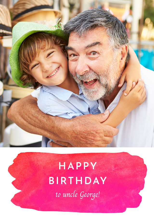 Create a Photo Birthday Card Watercolour Photo Card