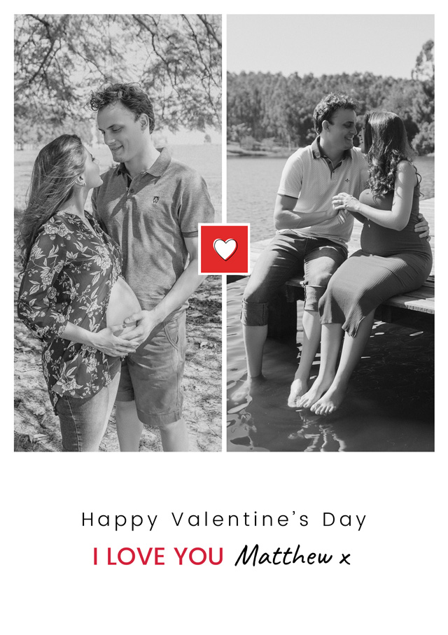 Create a Photo Card Valentines Mini Heart Portrait Photo Card