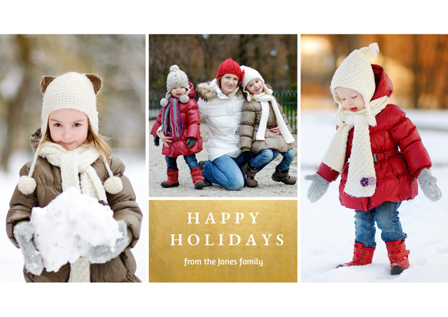 Create a Photo Christmas Card Collage Foil X 3 Photos Photo Card