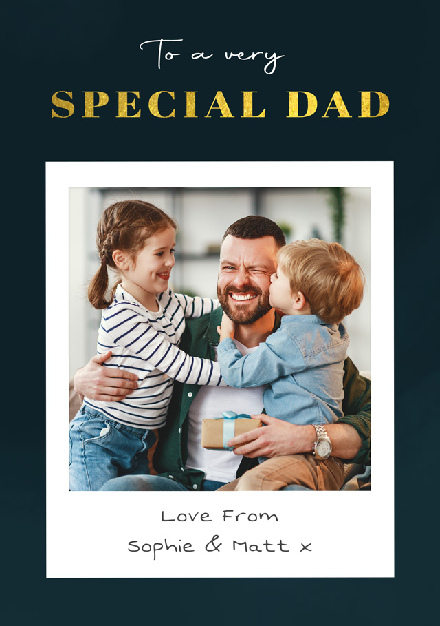 Create a Photo Father's Day Card Special Dad Photo Card