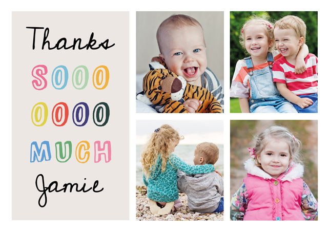 Create a Photo Thank You Card Collage Fun Photo Card