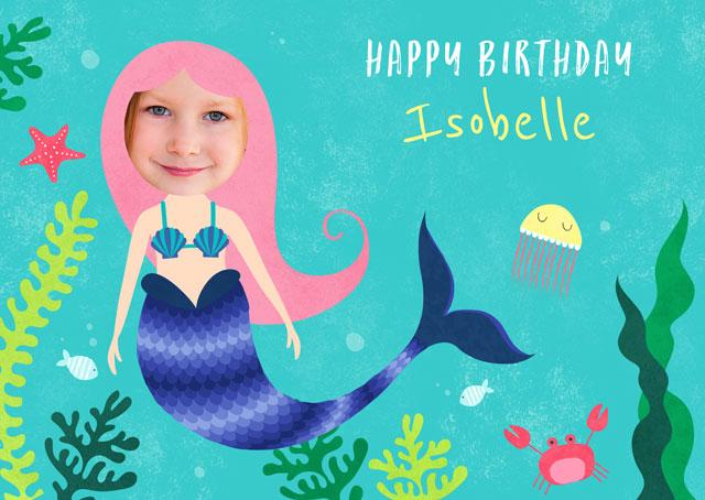 Create a Mermaid Greeting Card