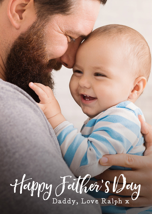 Photo Father's Day Card Script Portrait
