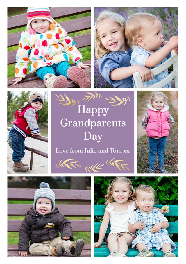Create a 6xcollage Grandparents Greeting Card