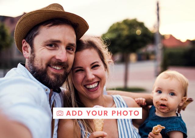 Create a Photo Card One Photo Landscape Photo Card