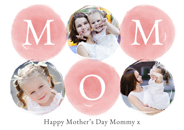 Create Photo Mother's Day Card Watercolor Mom Card