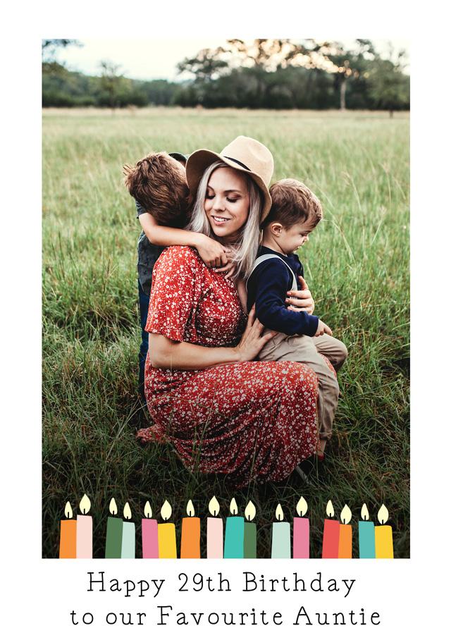 Create a Birthday Candles Photo Card