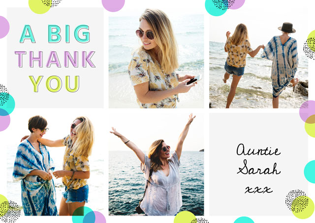Create a Thank You Polka Dot Greeting Card