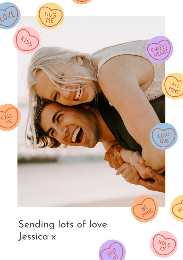 Create a Photo Card Love Hearts Photo Card