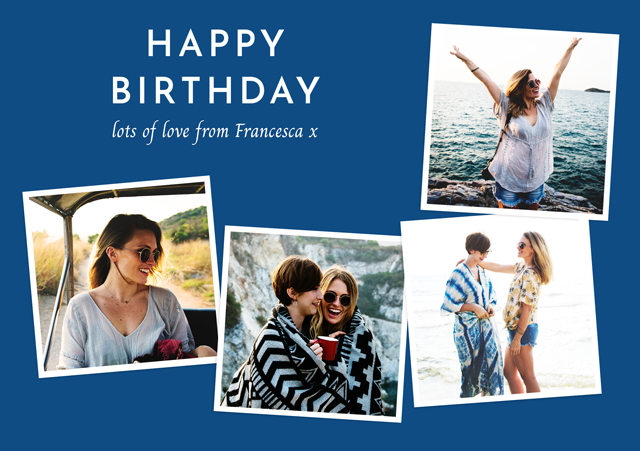 Create a Photo Birthday Card Collage Retro Photo Card