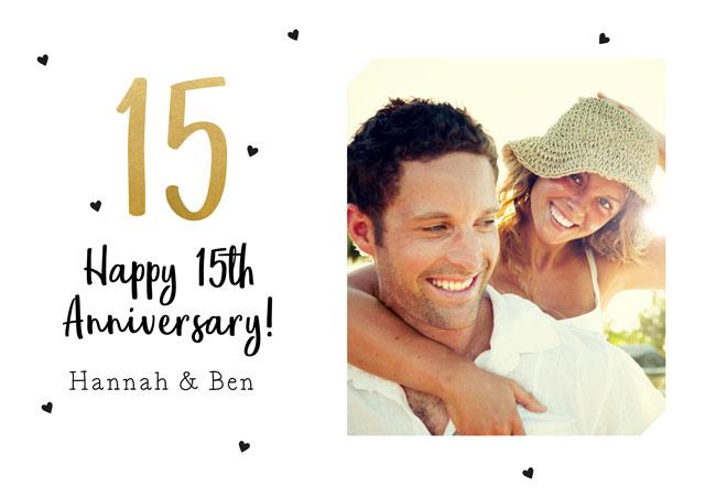 Create a 15th Anniversary  Photo Card