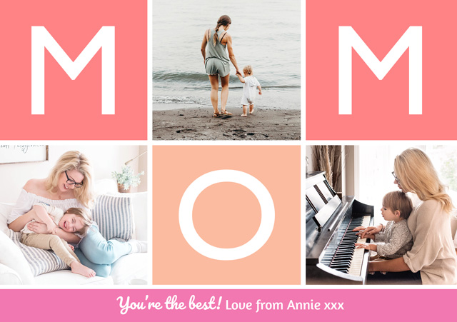 Create Photo Mother's Day Card Mom Collage Card