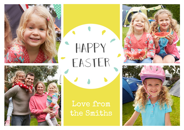 Create Photo Easter Card 4 Photo Collage Card