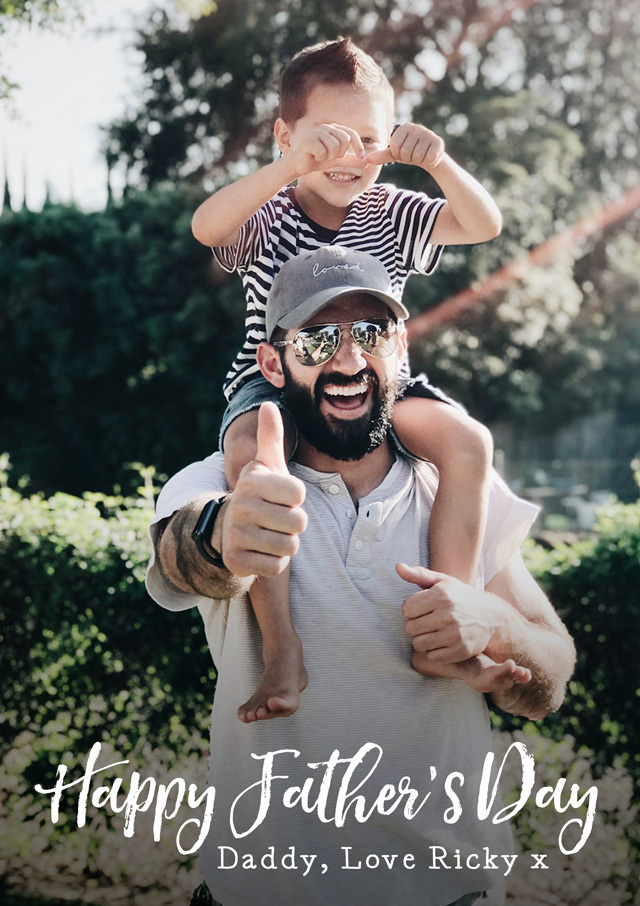 Create a Father's Day Overlay Script Photo Card