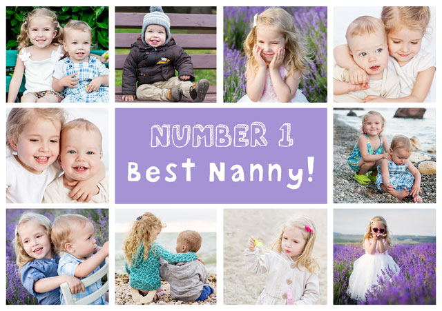 Create a Best Nanny 10 Collage  Photo Card