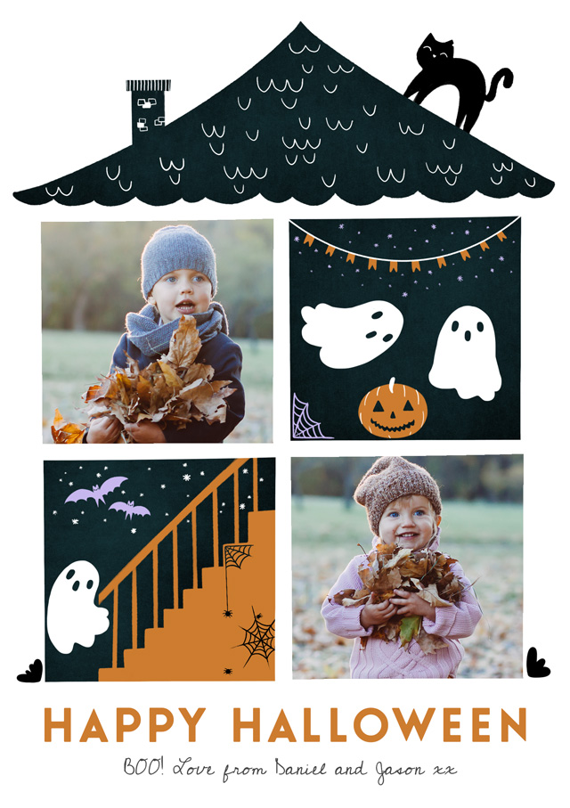 Create Halloween House Card