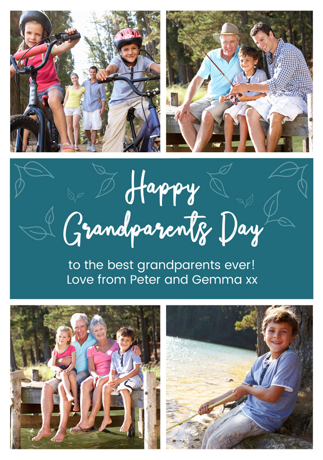 Create a 4x Collage Grandparents Greeting Card