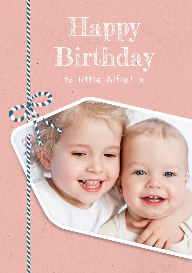 Create a Photo Birthday Card Gift Tag Photo Card