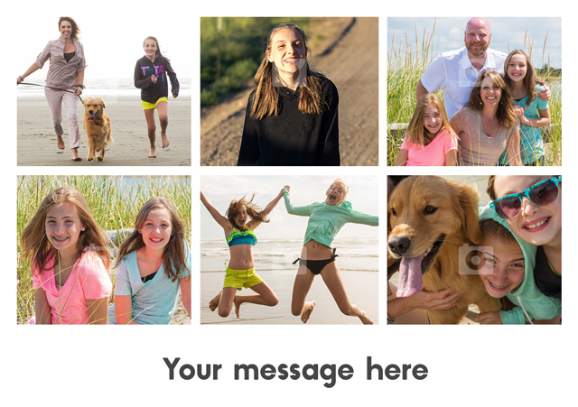 Create a 6 Photo With Text  Greeting Card