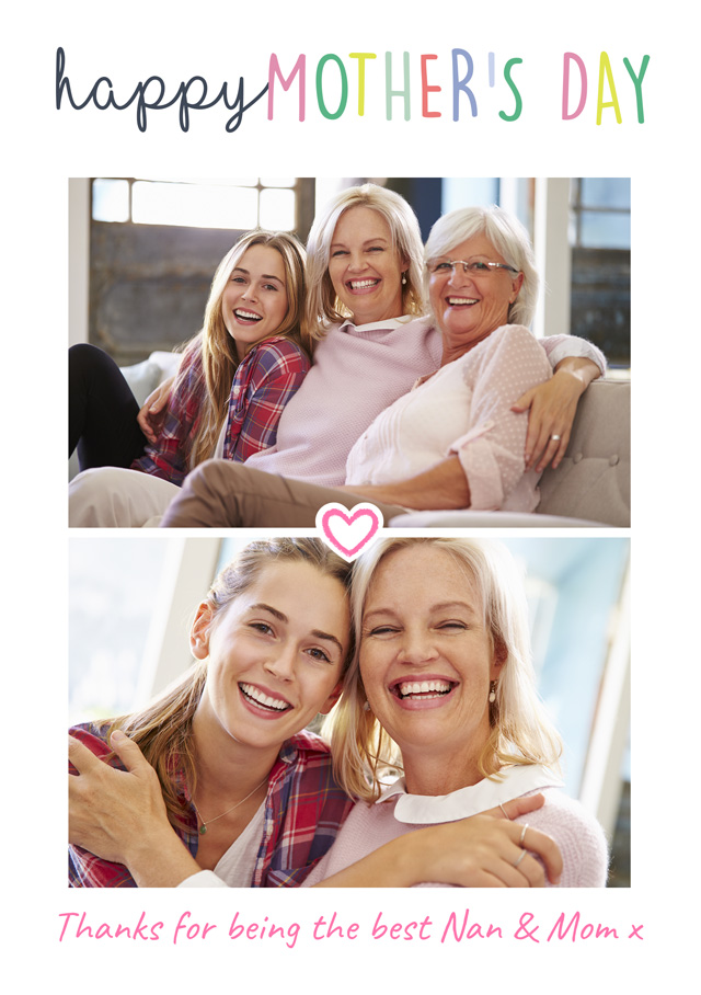 Create a Happy Mother's Day 2x Collage Usa Photo Card