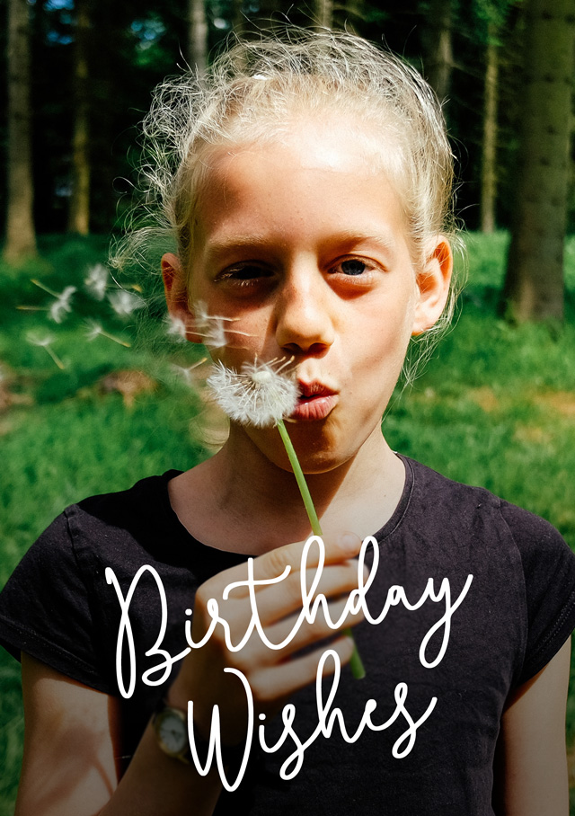 Create Photo Birthday Cards Simple Script Card
