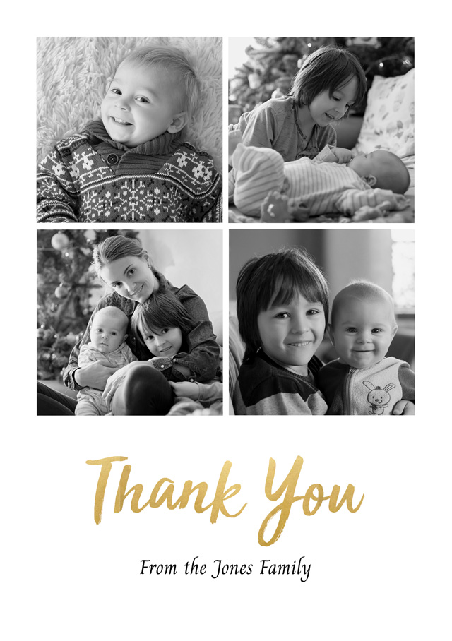 Create a Photo Thank You Card 4 Square Photos Photo Card