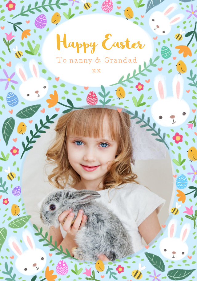 Create a Easter Sketches Photo Card