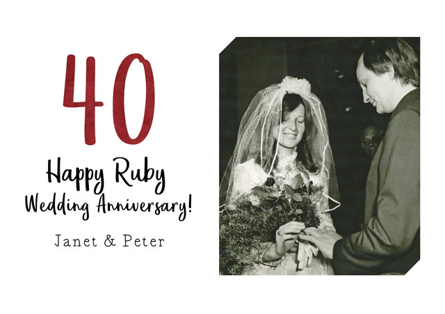 Create a Anniversary Ruby Photo Card