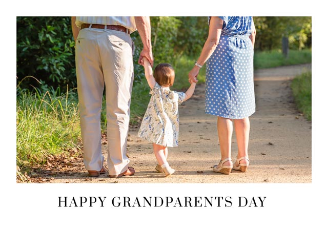 Create a Plain White Border Grandparents Day Greeting Card