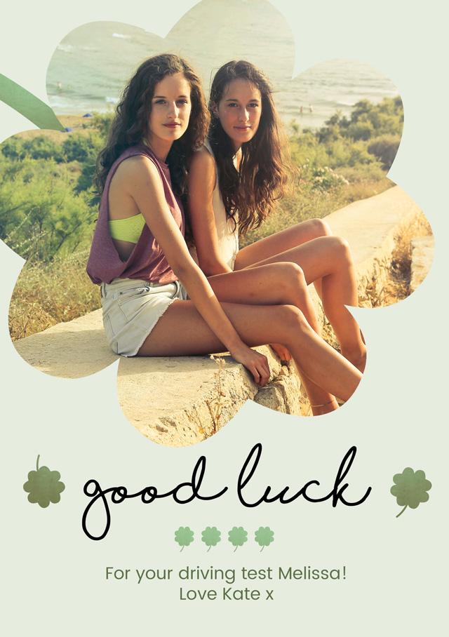 Create Good Luck Cutout Clover Card