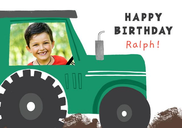 Create a Photo Card Birthday Tractor Photo Card
