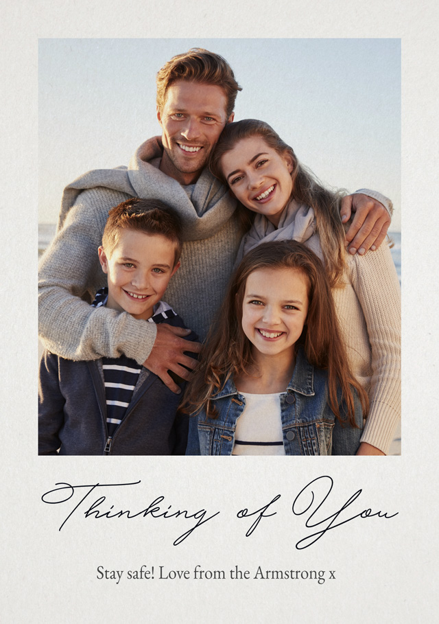 Photo Thinking Of You Card Script