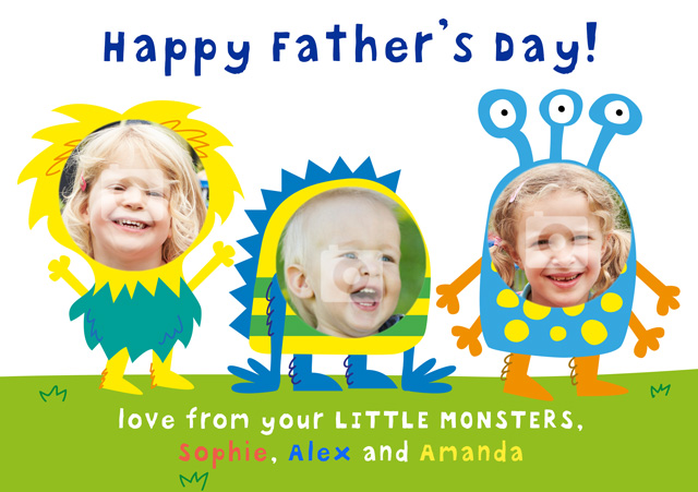 Create a Little Monster's  Photo Card