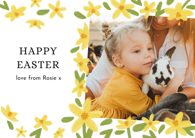 Create Photo Easter Card Spring Flowers Card