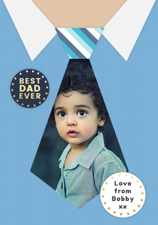 Create a Father's Day Tie Photo Card