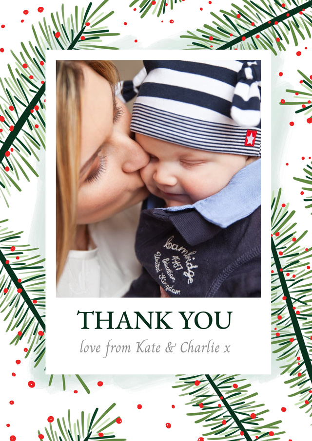 Photo Thank You Card Yew