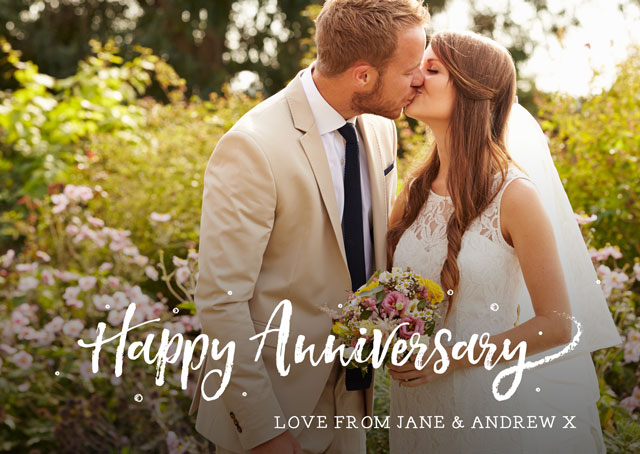 Create a Happy Anniversary Photo Overlay  Photo Card