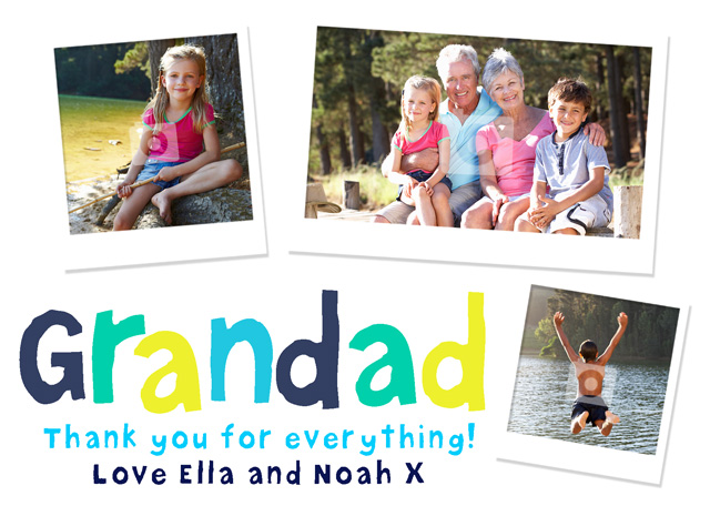 Create a Grandad Collage Greeting Card