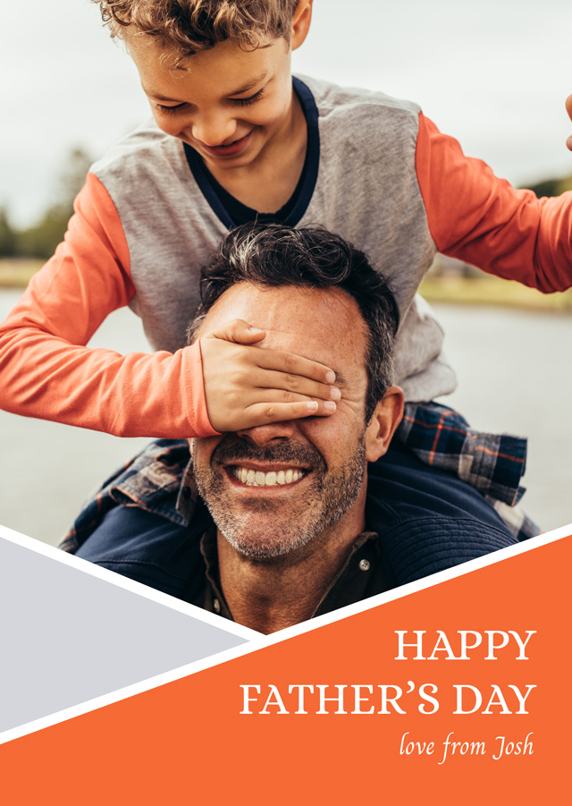 Photo Father's Day Card Geometry