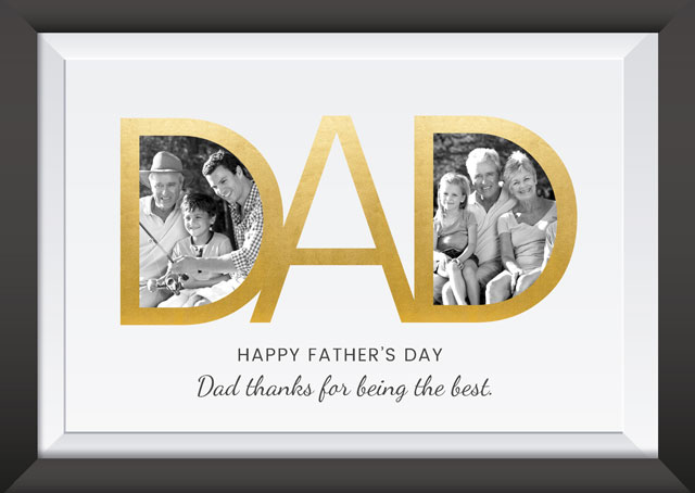 Create a Dad Frame Older Photo Card