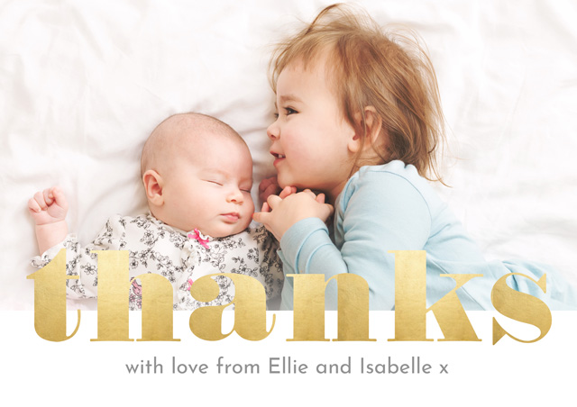Create a Photo Thank You Card Typography Photo Card