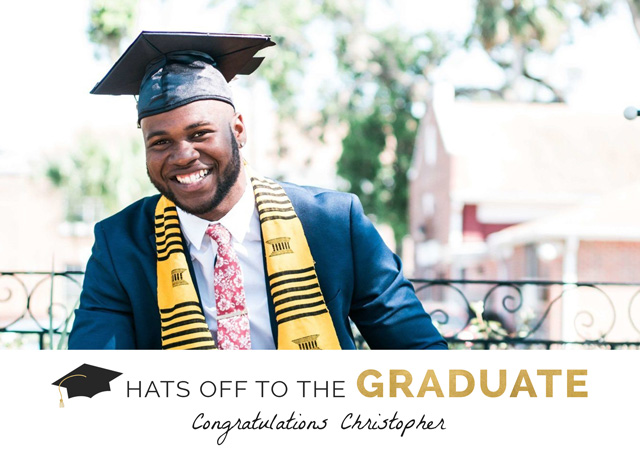 Create a Hats Off Photo Card