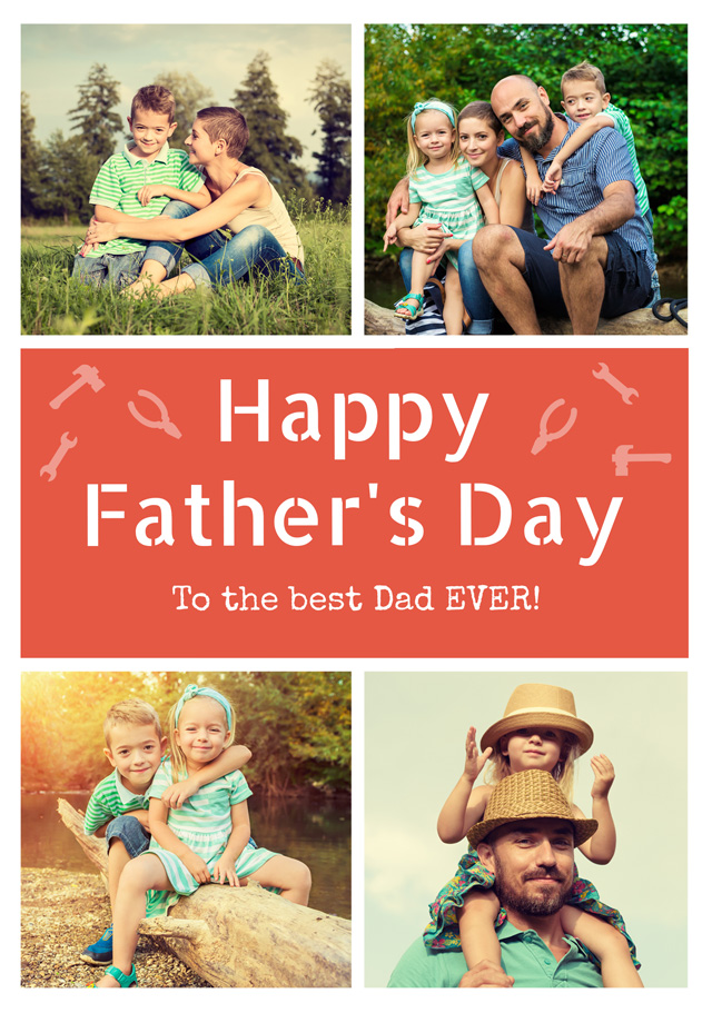 Create a Clone Of Dad 3x Collage Greeting Card