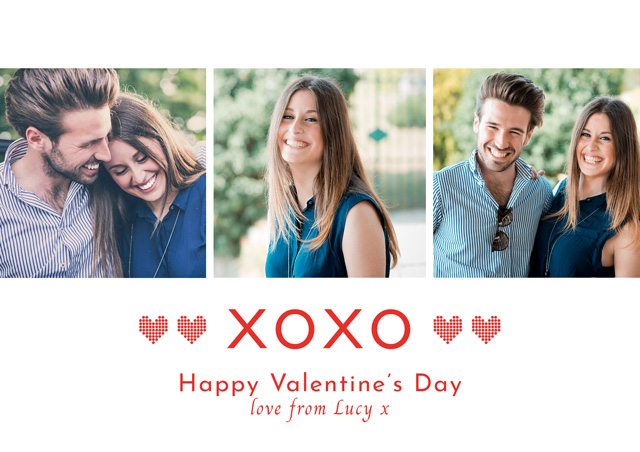Create Photo Card Valentines Xoxo Card
