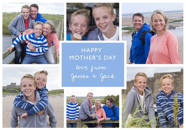 Create a Mum X6 Collage Photo Card