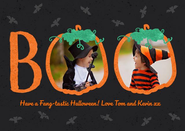 Create a Boo Collage Greeting Card