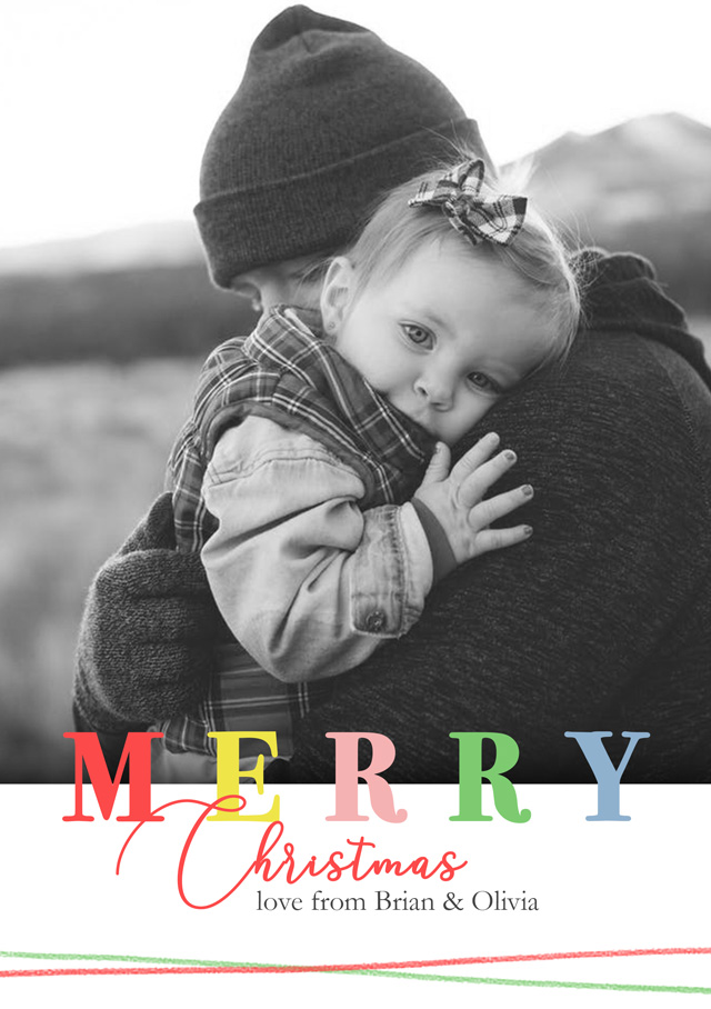 Create a Photo Christmas Card Merry Christmas Greeting Card