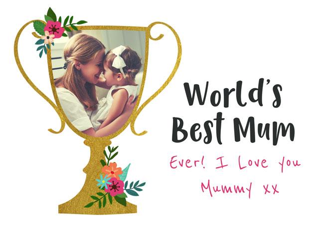 Create a World's Best Mum  Greeting Card