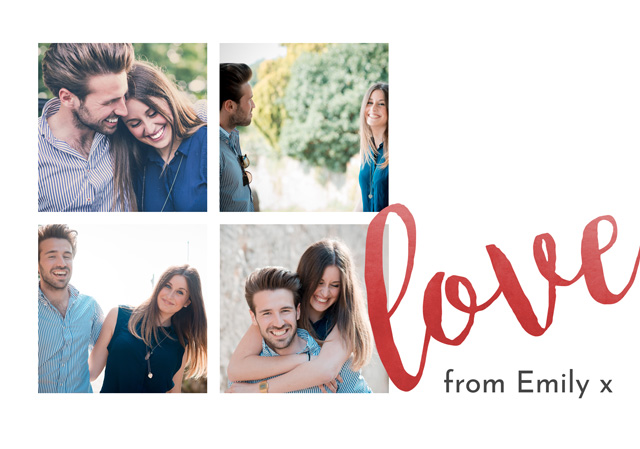 Create a Photo Card Valentines Love Message Photo Card